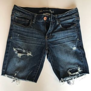 American Eagle Stretch Size 8 Distressed Shorts